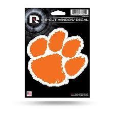 Rico Clemson Tigers 5 Orange Paw Decal Mr Knickerbocker