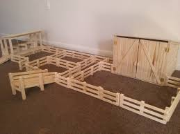 Wooden Toy Dairy Farm Set Made From Recycled Wood 170 00 Toy Barn Diy Horse Barn Farm Toys