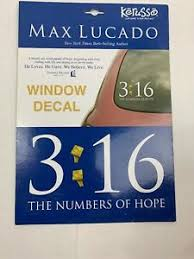 John 3 16 Vinyl Decal Sticker Car Window Max Lucado Bible Quote Pslam Jesus God 612978207369 Ebay