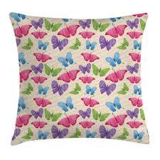 Ambesonne Kids Cute Colorful Butterflies Pillow Cover Wayfair