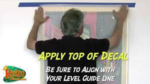 How To Apply Large Wall Decals Youtube