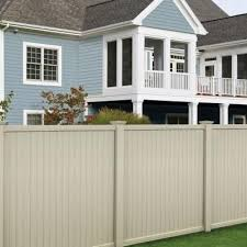 Veranda Somerset 6 Ft H X 6 Ft W Tan Vinyl Privacy Unassembled Fence Panel 128010 The Home Depot Vinyl Fence Panels Vinyl Privacy Fence Vinyl Fence