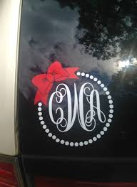 Bow And Polka Dot Car Decal Personalized Polka Dot Vine Monogram Polka Dot And Bow Decal Laptop Decals Per Vine Monogram Personalized Stickers Laptop Decal