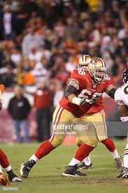 Adam Snyder of the San Francisco 49ers blocks during the NFL game... |  Chicago nfl, San francisco 49ers, Nfl