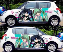 Diy Japanese Anime Hatsune Miku Sticker Car Body Cartoon Stickers Racing Drifting Acgn Decals Itasha G Festa Change Color Film Stickers Racing Sticker Carcar Sticker Aliexpress