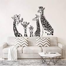 Amazon Com Pabear Wall Decal Sticker Mural Vinyl Arts And Sayings Mural Art Giraffe Family Animal Theme Kids Room Decor Giraffes Safari Sticker Kids Room Home Kitchen