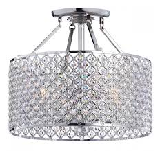 crystal 4 light round ceiling chandelier