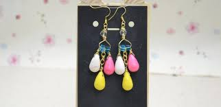 chandelier earrings with wire and beads