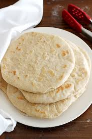 homemade soft flatbread versus dough