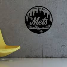 Amazon Com Wall Decor New York Mets Wall Art Sticker Major League Baseball Club Vinyl Decal Fans Logotype Removable Poster Sports Team Symbol Mural Sporti Home Kitchen