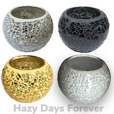 le glass candle holder black gold