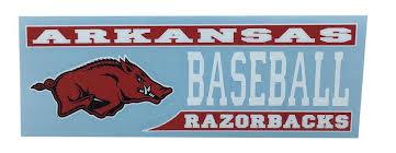 Razorbacks Arkansas Decal Baseball Block Alumni Hall