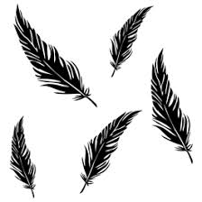 Feathers Vinyl Wall Decals Dezign With A Z