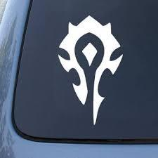 Amazon Com Cmi346 World Of Warcraft Horde Pvp Wow Vinyl Car Decal Sticker Vinyl Color White Automotive