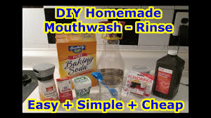 easy diy mouthwash rinse all natural