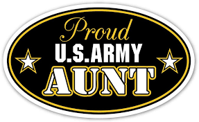 Amazon Com Proud U S Army Aunt Oval Bumper Sticker Us Armed Forces Decal 3x5 In Automotive