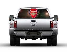Graphics Decals Arsenal Fc Logo Car Rear Window Decal Sticker Car Truck Suv Van Football 131 Marinelife Org