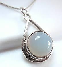 teardrop hoop necklace 925 sterling