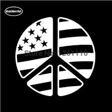 Hotmeini Peace Sign Symbol American Flag Reflective Vinyl Decal Sticker Car Truck Suv Window Bumper 13 Colors 12 7 12 7cm Car Stickers Aliexpress