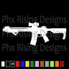 Ar 15 Vinyl Decal Sticker Car Window Bumper Gun Assault Rifle M16 5 56 3 Ms 075 Ebay
