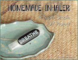 a super simple diy nasal inhaler