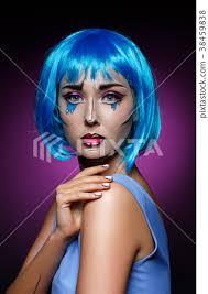 beautiful with pop art makeup
