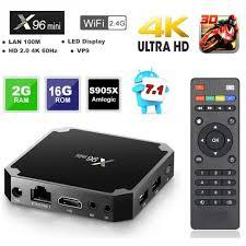 X96 Mini Android 7.1.2 Amlogic S905W 4K KODI 17.3 TV BOX with IR ...