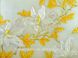 flower image design embossed glass