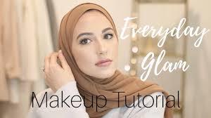 natural glam makeup tutorial hijab
