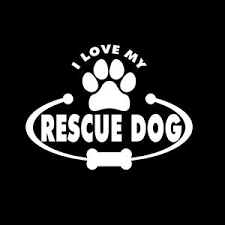 Love My Rescue Dog Decal Dog Stickers Custom Sticker Shop