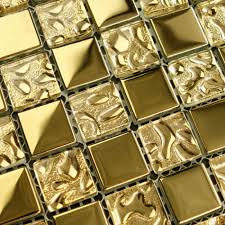 crystal glass mosaic tile sheets gold