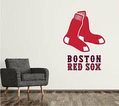 Boston Red Sox Wall Decal Logo Baseball Mlb Custom Decor Sticker Vinyl Sr18 Ebay