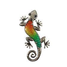 outdoor animals of metal gecko wall