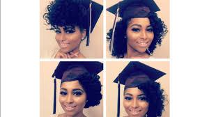 curly natural hair graduation cap