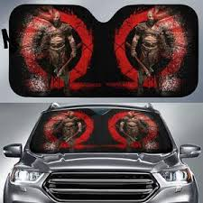 Kratos God Of War Video Game Auto Sun Shade Nh07 100704 Gift Family Friends Fan Idea