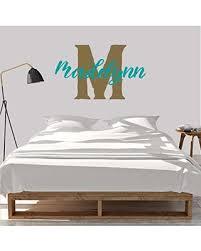 Amazing Deal On Girl S Custom Name And Initial Wall Decal Choose Your Own Name Initial And Letter Styles Multiple Sizes Girl S Name Bedroom Decoration Girl S Nursery Personalized Custom Name Wall Decals