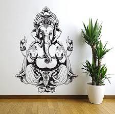 Vinyl Wall Decal Sticker Art Decor Bedroom Ganesh Elephant God Om Yoga Buddha Mandala Ganapati Wall Decal Elephant Things