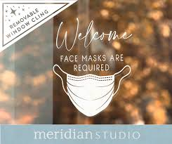 Face Mask Required Window Decal Removable Vinyl In 2020 Window Decals Window Clings Face Mask