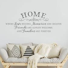 Home Is Where Love Resides Inspiring Wall Decal Home Quotes In 2020 Kitchen Wall Quotes Kitchen Wall Decals Wall Quotes Decals