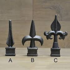 3 4 Cast Iron Spear Finial Spire Ornamental Fence Topper Wrought Iron Ebay
