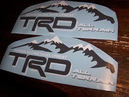 Trd All Terrain Bedside Window Sticker Vinyl Decal Toyota Racing Tundra Tacoma