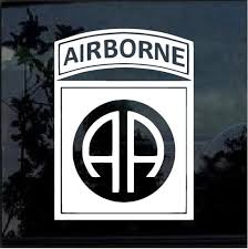 Us Army 82nd Airborne Division Decal Vinyl Stickercars Etsy