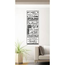 Grandparents Home Decor Grandma Grandpa S House Rules Wall Decals Vinyl Letters Stickers 33x11 Inch Black Walmart Com Walmart Com