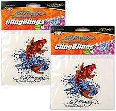 Amazon Com Auto Expressions Ed Hardy Koi Cling Bling Decal Automotive