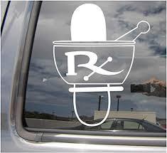 Amazon Com Rx Mortar And Pestle Pharmacy Symbol Sign Pharmacist Prescription Drugs Cars Trucks Moped Helmet Hard Hat Auto Automotive Craft Laptop Vinyl Decal Store Window Wall Sticker 10597 Home Kitchen