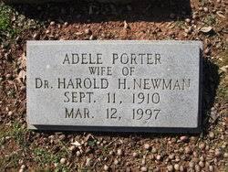 Adele Porter Newman (1910-1997) - Find A Grave Memorial