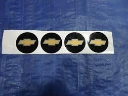 Chevy Hubcap Center Cap Bowtie Gold Black 2 1 8 Decal Emblem Sticker Set Ebay