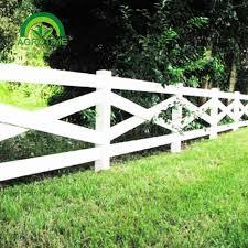 High Strength Flexible Plastic Black Horse Fence Railing Fence Horse Rail Post