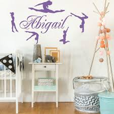 Personalized Name Gymnasts Vinyl Wall Decals Custom Girls Name Gymnastics Dance Home Decor Wall Stickers Mural Poster Hot Wall Art Sticker Wall Art Sticker Quotes From Joystickers 9 86 Dhgate Com