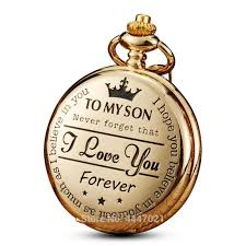 pocket watch to my son i love you gift